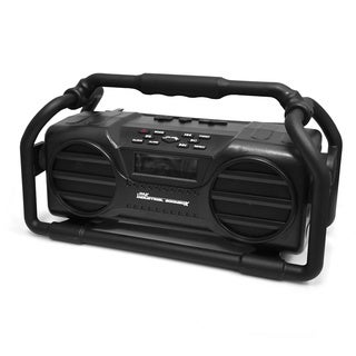 Pyle Splash Proof Heavy Duty Industrial Bluetooth Boom Box with USB/ SD/ MP3/ FM Radio