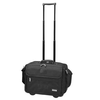 Goodhope Black Rolling 15-inch Laptop Briefcase