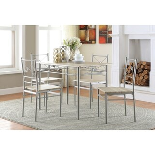 Coaster Company Transitional Brushed Silver 5-piece Dining Set