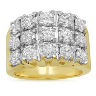 14k Yellow Gold 3 1/3ct TDW Diamond Ring (F-G, I1-I2)