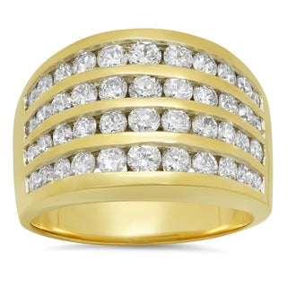 Artistry Collections 14k Yellow Gold 2 1/4ct TDW Diamond Ring (F-G, SI1-SI2)