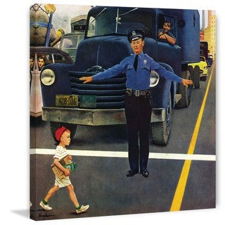 Marmont Hill - Traffic Cop by George Hughes Painting Print on Canvas
