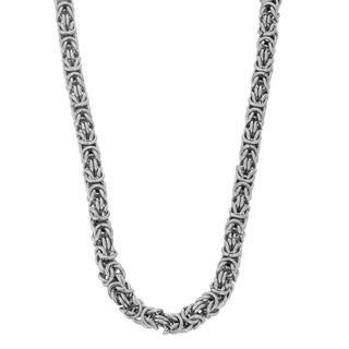 Gioelli Stainless Steel Byzantine Necklace