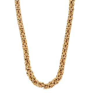 Gioelli Goldplated Stainless Steel Byzantine Necklace
