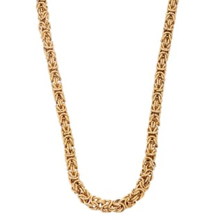 Gioelli Goldplated Stainless Steel Intricate Byzantine Necklace