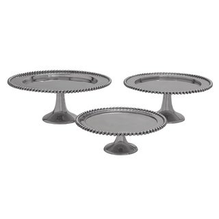 Aluminum Stackable 3-Tier Cake Stand - Set of 3