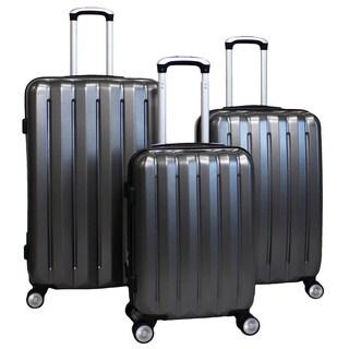 World Traveler Oxford 3-piece Lightweight Spinner Rolling Luggage Set