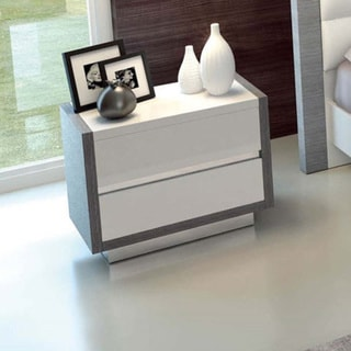 Luca Home White 2-drawer Nightstand