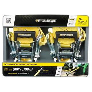 SmartStraps 14' 5000 lbs RatchetX 2 Pk Yellow