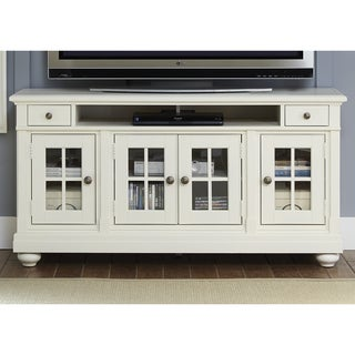 Cottage Harbor View Distressed Linen TV Console
