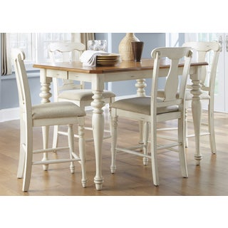 Ocean Isle Bisque & Natural Pine Gathering Table - Antique White