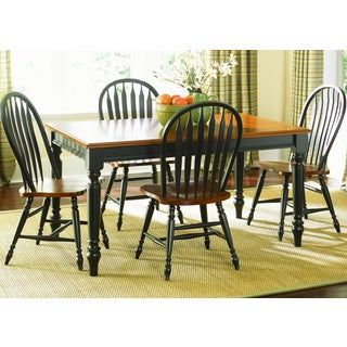 Farmhouse Country Anchor Black and Bronze Dinette Table
