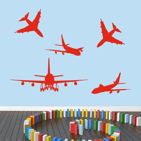 Airplanes Large Set Wall Decal