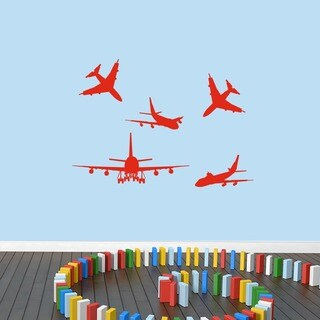 Airplanes Small Set Wall Decal (More options available)