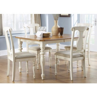 Ocean Isle Bisque & Natural Pine Dinette Table - Antique White