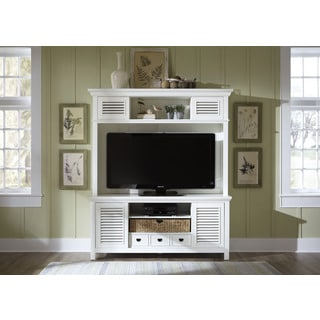 Summerhill Linen 2 Piece Entertainment Center