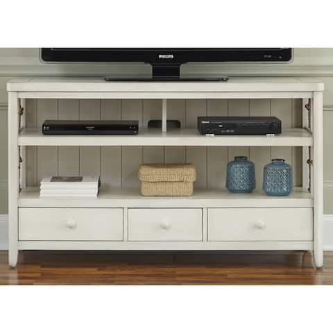 Dockside White with Rope Accent TV Console - 55 inches