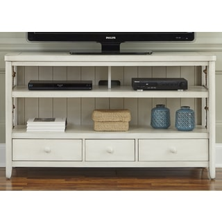 Dockside White with Rope Accent TV Console