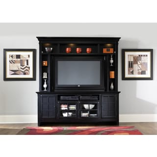 New Generation Rubbed Black 2 PC Entertainment Center