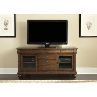 Rustic Traditions Cherry 74 Inch TV Console