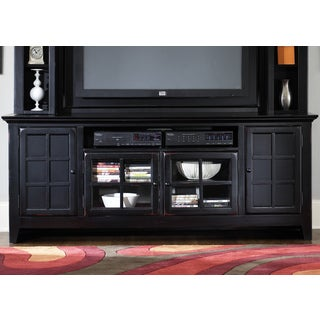 New Generation Rubbed Black TV Console