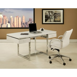 Dupont 2-drawer White Office Desk