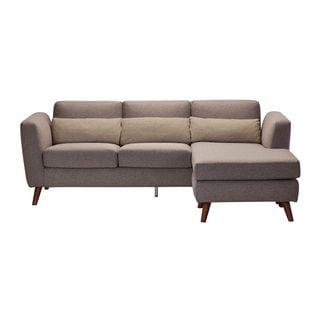 Aurelle Home Pino Grey L-shape Sectional Sofa