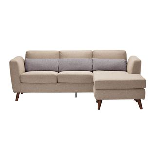 Aurelle Home Pino Cappuccino Sectional