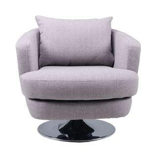 Aurelle Home Roger Swivel Chair Grey