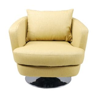 Aurelle Home Roger Swivel Chair Lime