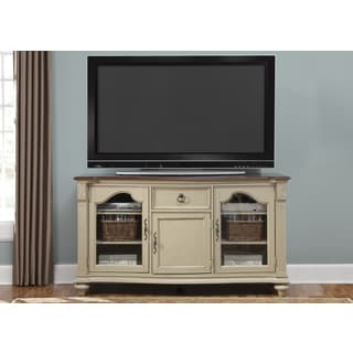 Tiffany Cherry and Taupe Traditional TV Console