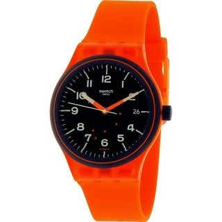 Swatch Men's Sistem51 SUTO401 Orange Silicone Automatic Watch