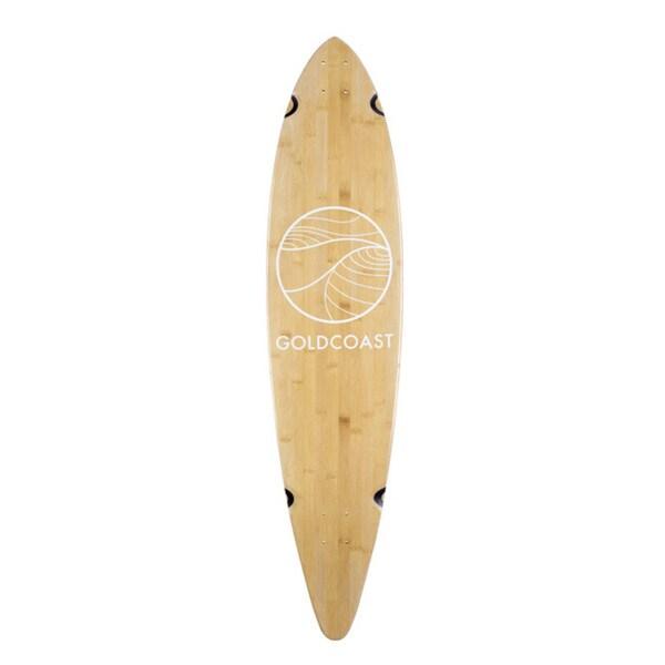 GoldCoast Classic Bamboo Pintail Longboard Deck