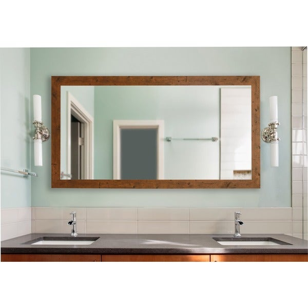 American Made Rayne Rustic Light Walnut Extra Large Mirror