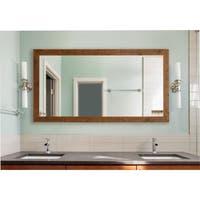 American Made Rustic Light Walnut Extra Large Mirror