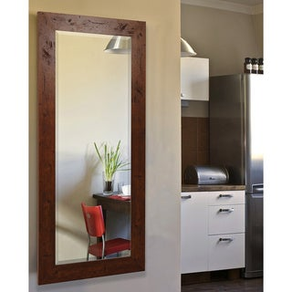 American Made Rayne Rustic Dark Walnut Body Wall/ Vanity Mirror - Dark Walnut