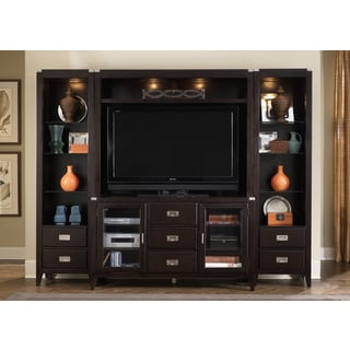 Harbor Town Transitional Mocha 4 Piece Entertainment Center
