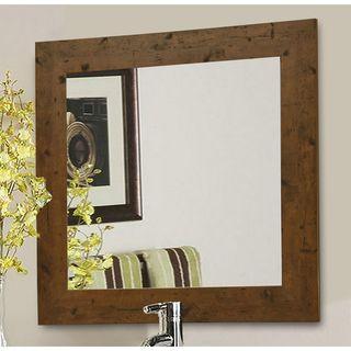 American Made Rayne Rustic Light Walnut Wall/ Vanity Mirror
