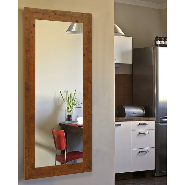 American Made Rayne Rustic Light Walnut Mirror