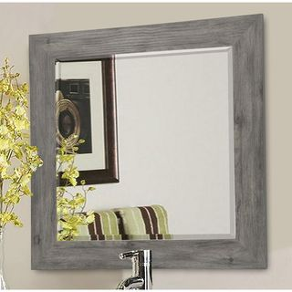 American Made Rayne Grey Barnwood Wall Mirror