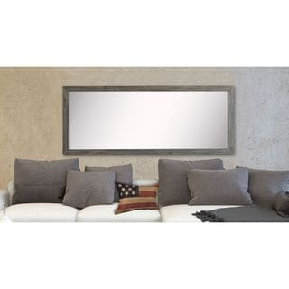 American Made Rayne Grey Barnwood Floor Mirror