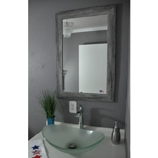 American Made Rayne Grey Barnwood Wall/ Vanity Mirror