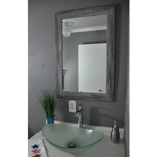 Oliver & James American Made Rego Distressed Silver Wall Mirror