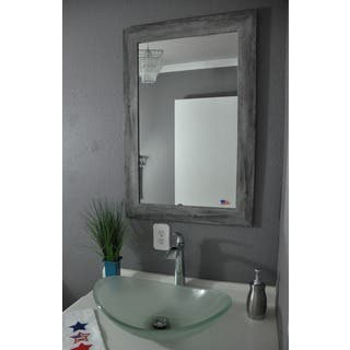 Oliver James American Made Rego Distressed Silver Wall Mirror