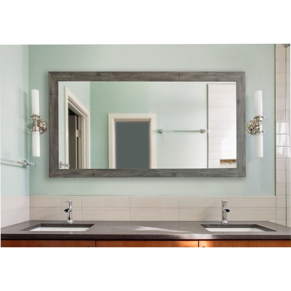American Made Grey Extra Large Wall/ Vanity Mirror