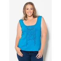 Sealed with a Kiss Women's Plus Size 'Angel' Braided Top