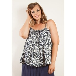Sealed with a Kiss Women's Plus Size Printed Cotton Cami