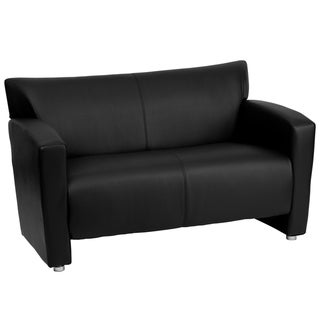 Porch & Den Wells Bonded Leather Love Seat