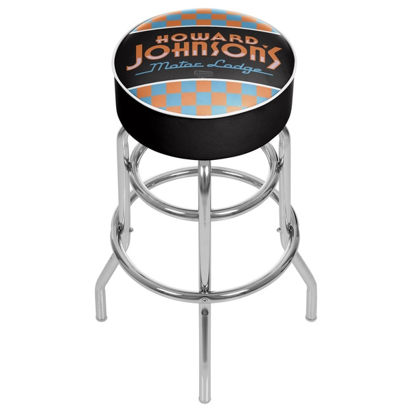 Howard Johnson Padded Swivel Bar Stool