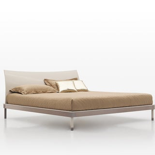 Glossy Beige Bed